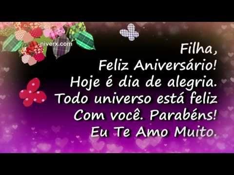 Feliz Aniversario Mensagem De Aniversario Para Filha Feliz