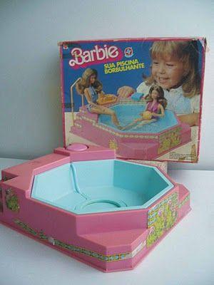 Piscina da barbie faz bolhas e som borbulhante de verdade for A piscina da barbie