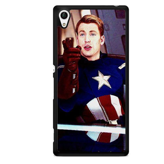 Steve Roger Captain America TATUM-10143 Sony Phonecase Cover For Xperia Z1, Xperia Z2, Xperia Z3, Xperia Z4, Xperia Z5