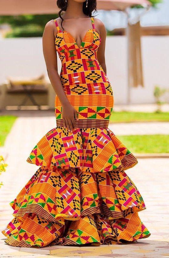 kleid afrika muster  einfach zu machen