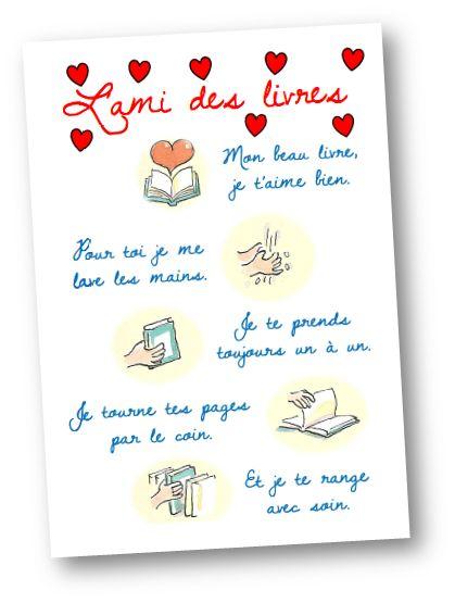 Affiche Qui Donne De Mani Re Po Tique Quelques Conseils Pour Prendre Soin Des Livres Le Tout