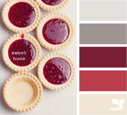 sweet hues: Dining Room, Design Seeds Color Palette Red, Color Combos, Color Schemes, Living Room, Sweet Hues, Colour Palette, Color Combination