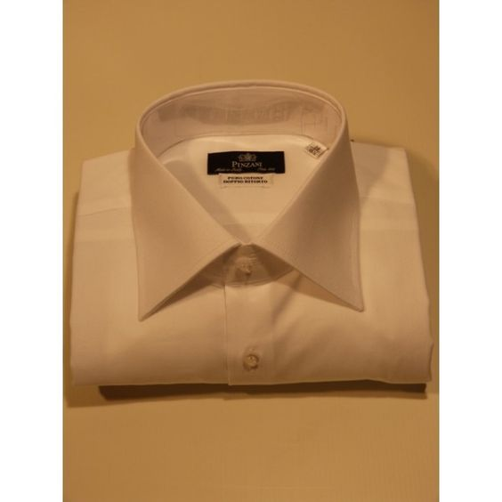 Classic white cotton shirt Visit www.pinzani.biz to find out more.