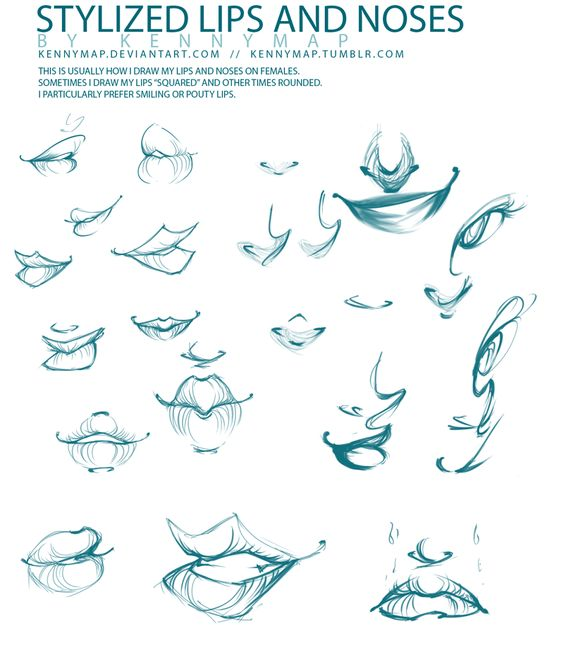 Character Design Noses : Lips and noses by kennymap on deviantart ★ character