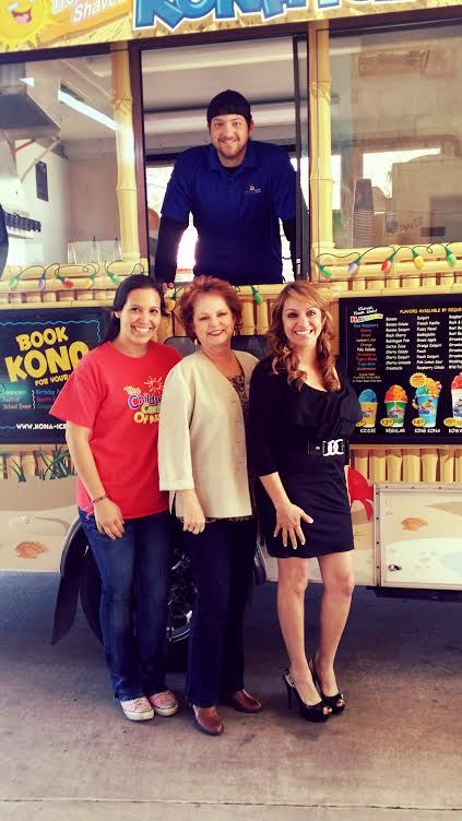 Just the three of us and Kona Ice guy:)