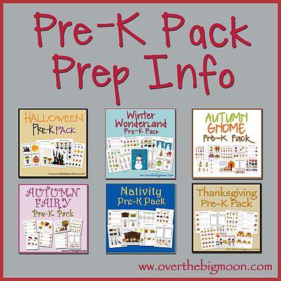 Pre-K Packs: