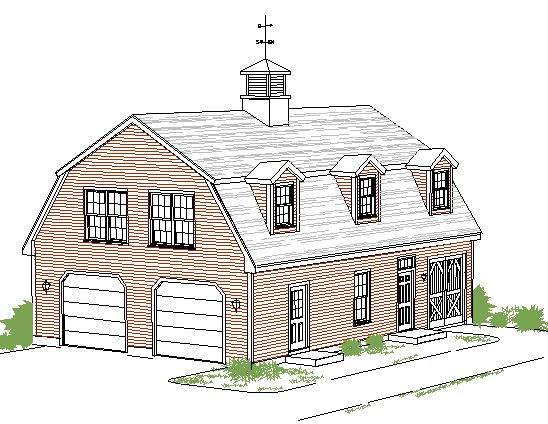 Garage Shop Barn Style With Living Space Gambrel Garage
