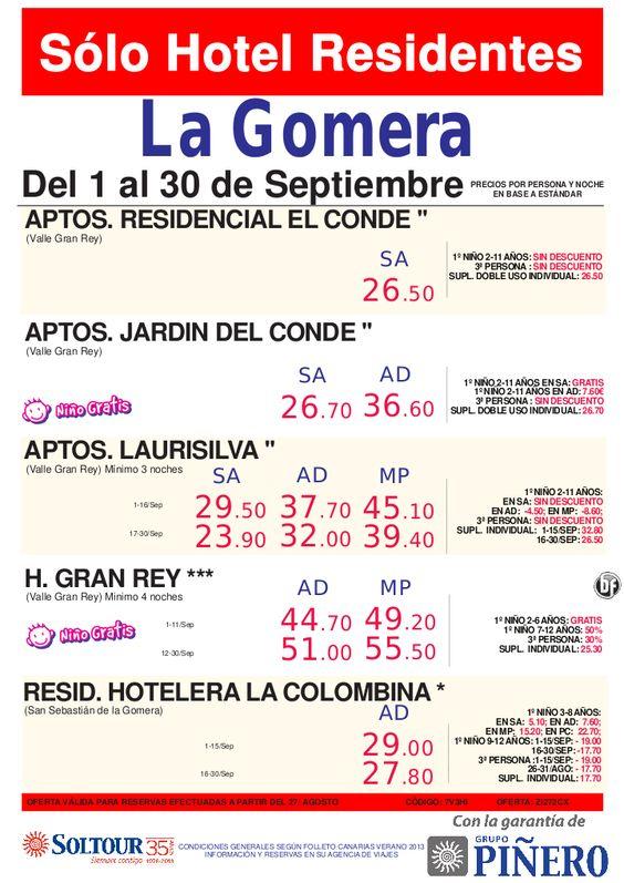 Sólo Hotel Residentes - Hoteles en La Gomera - Del 1 al 30 Septiembre - http://zocotours.com/solo-hotel-residentes-hoteles-en-la-gomera-del-1-al-30-septiembre/