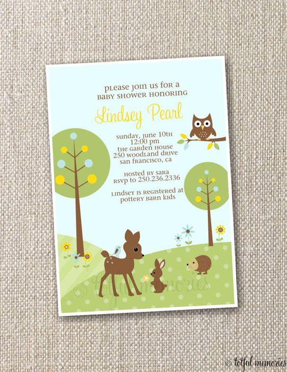 showers shower invitations baby shower invitations woodland baby