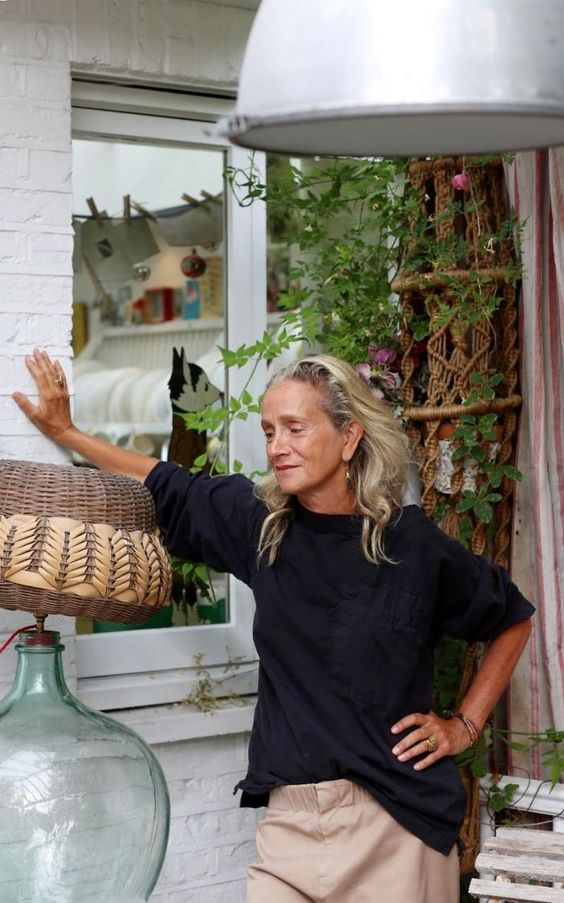Lucinda Chambers, Fashion Director of Vogue UK, photographed at her home in Shepherd's Bush