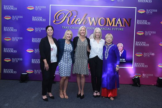 'Rich Woman Event' a unique women only seminar on financial freedom featuring founder Kim Kiyosaki