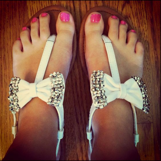 Bows sandals Steve madden maybe..