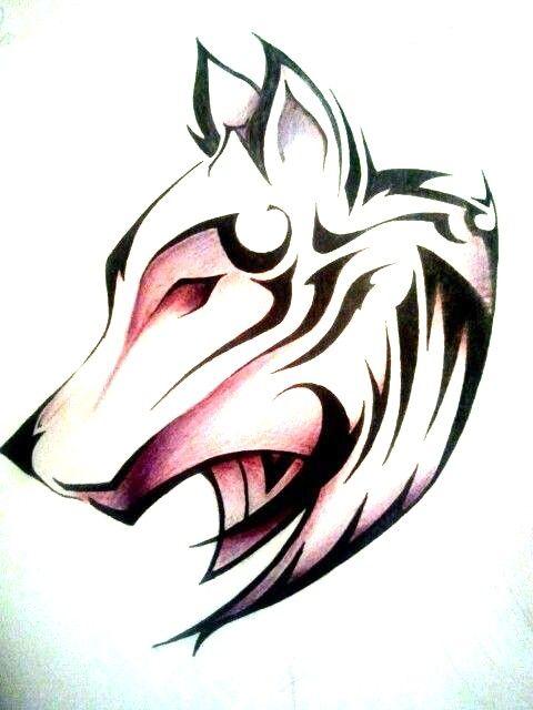 Lobo Serio Dibujos Tribales Lobos Para Dibujar Tatuajes De