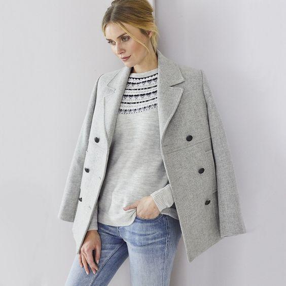 The Pea Coat | Coats &amp Jackets | Clothing | The White Company UK