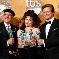 Colin Firth and The King's Speech Cast 2011 Screen Actor's Guild Award Press Room Quotes 2011-01-30 20:41:40