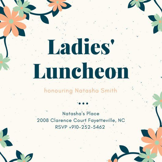 Lunch Invitation Template Free Fresh Customize 114 Luncheon Invi Vintage Wedding Invitations Templates Wedding Invitation Wording Templates Invitation Template