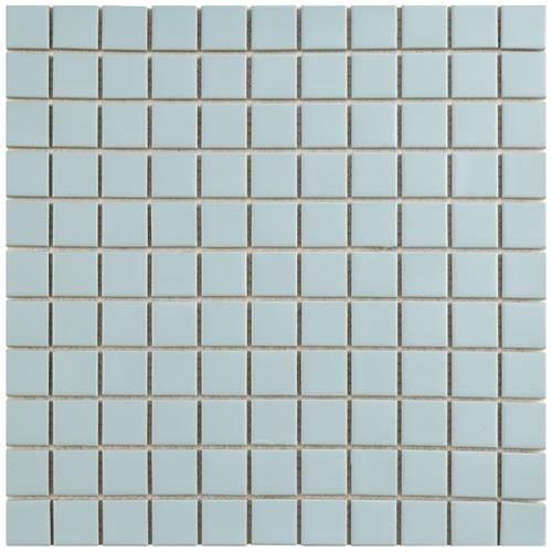 Show Details For Metro Square Matte Light Blue 11 3 4 X11 3 4 Porcelain Mos Porcelain Mosaic Mosaic Tiles Porcelain Mosaic Tile