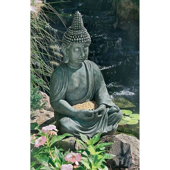 Buddha will add a touch of peace and charm to your outdoor living space.