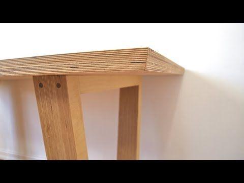 Making High End Furniture From Plywood Diy Modern Dining Table Diy Dining Table Furniture Design Modern Modern Diy