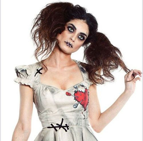 Scary Doll Makeup | Voodoo doll makeup is one of the ...