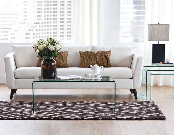 Glass coffee table at structube fun with home style for Waterfall design coffee table
