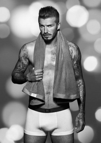 David Beckham now wears a moustache (H bodywear ad). Hit or miss?