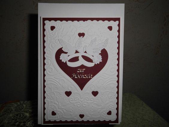 Hochzeitskarten - Hochzeitskarte - ein Designerstück von sylvies08 bei DaWanda