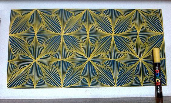Textura realizada con Posca.