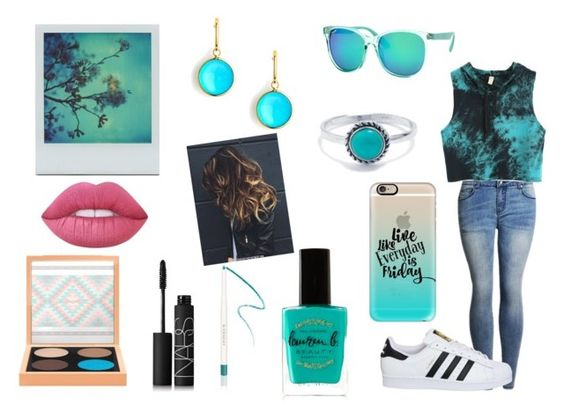 """Turquoise Love"" by sarahj14 ❤ liked on Polyvore featuring adidas, Polar, Syna, Belk Silverworks, Casetify, Lauren B. Beauty, Givenchy, MAC Cosmetics, NARS Cosmetics and Lime Crime"