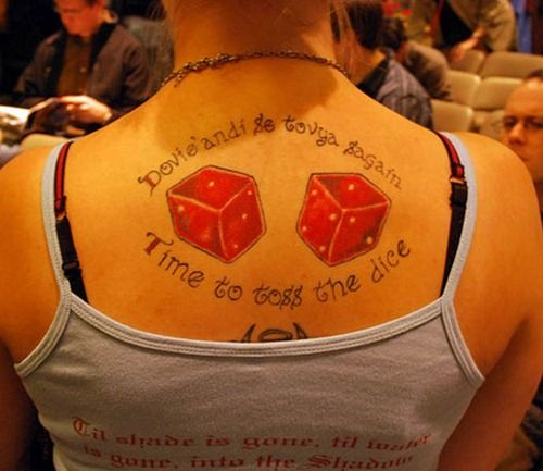Cool dice tattoos design 13 tattoos pinterest time for Wheel of time tattoos