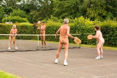 Nudist Sports  Nudists going in for different sports