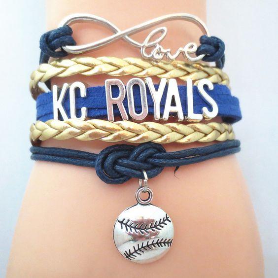 Infinity Love Kansas City Royals baseball Bracelet BOGO