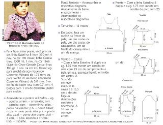 Croche pro Drink: Little dresses for crochet infant found on the net, gorgeous +chart