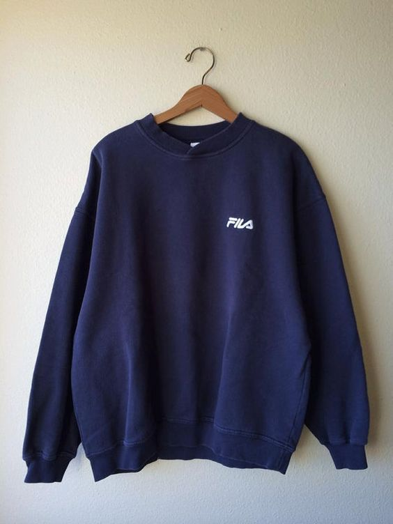 xl fila crewneck sweatshirt base marine fila sweatshirt xl 90 s logo athl tique crewneck. Black Bedroom Furniture Sets. Home Design Ideas