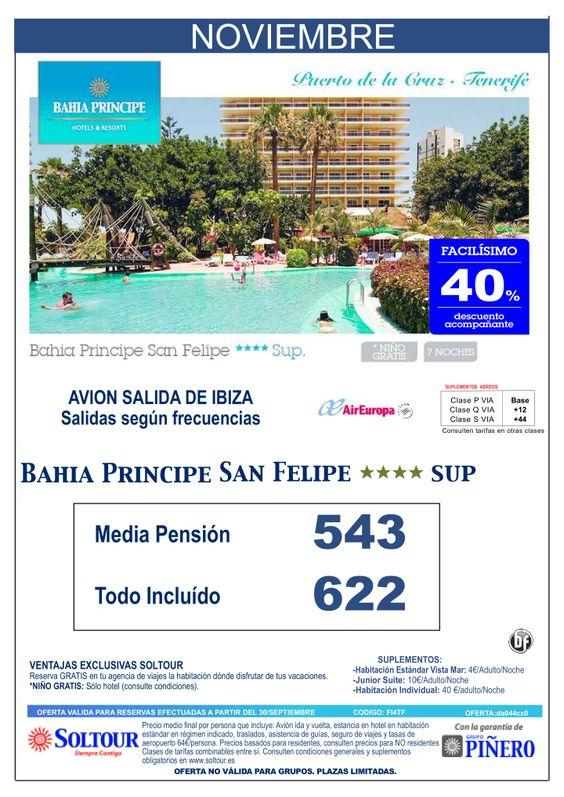 Tenerife - 40% Dto.Acompañante - Bahía Príncipe San Felipe, salidas desde Ibiza - Noviembre ultimo minuto - http://zocotours.com/tenerife-40-dto-acompanante-bahia-principe-san-felipe-salidas-desde-ibiza-noviembre-ultimo-minuto/