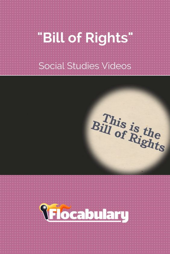Image by Flocabulary on Social Studies | History Lessons | Bill of ...