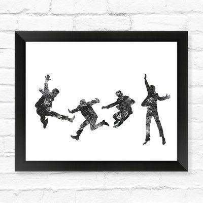 Dignovel Studios Beatles Watercolor Framed Graphic Art Size: