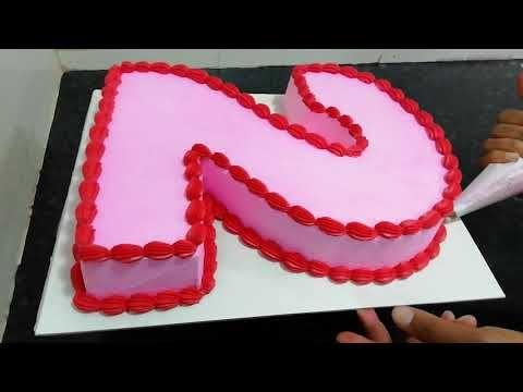 Number 2 Shape Butter Cream Cake Model Cake Designs For Girl Cake 2nd Birthday Cake Boy