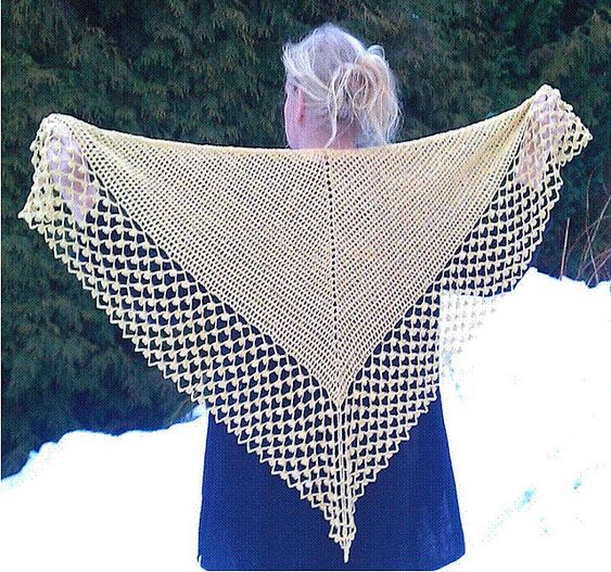Bobble shawlpattern by Pia Lindén