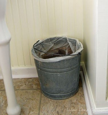 Bathroom waste basket rustic rustic cabin pinterest for Waste baskets for bathroom