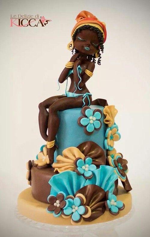 Beautifully sculpted cake~
