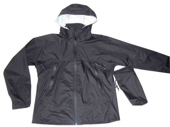 Rain Jacket with small pouch: fabric:100% nylon with waterproof ...