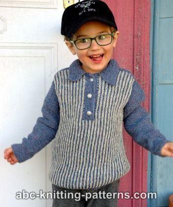 Boy\'s Sporty Brioche Sweater | Patrones de suéter de punto, Patrones ...