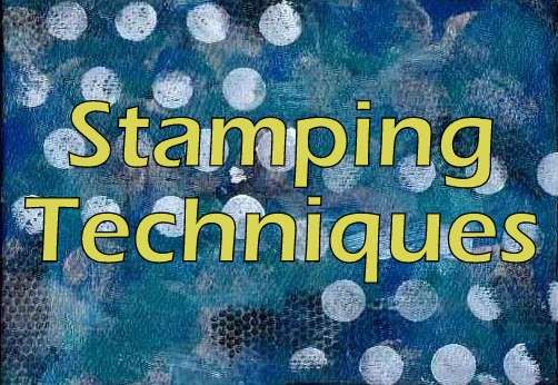 Stamping Techniques: Heres a list of all the different Rubber Stamping techniques which you can find directions for. Stamping and Embossing With Baby Wipes - Recycle the baby wipes you used for cle...