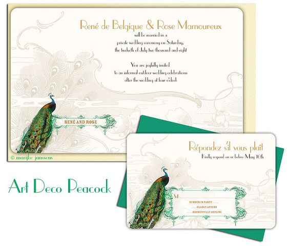 peacock: Vintage Art Deco, Bling, Peacock Invite, Wedding Ideas, Roaring 20S, Peacock Theme, 20S Wedding, Artdeco Peacock, 1920 S Vintage Art