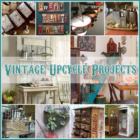 Upcycle vintage and projects on pinterest for Diy upcycling projects