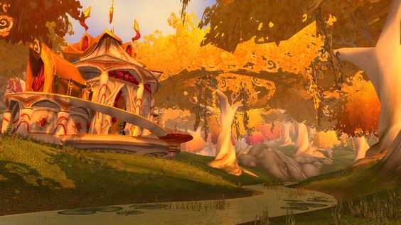 Warcraft Silvermoon Eversong woods Blood elf landscape scenery