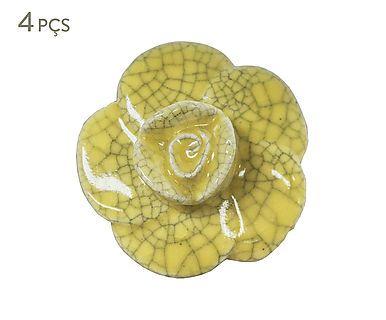 Jogo de Puxadores Bromélia - Amarelo
