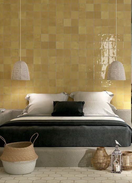 Welcome 2020 Yellow Tile Wall And Floor Tiles Apartment Life Top info bedroom wall ceramics