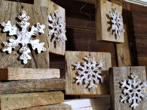 Easy DIY | Snowflake Wood Christmas Ornaments